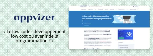 Dossier Appvizer - le low-code : développement low cost ou avenir de la programmation ?