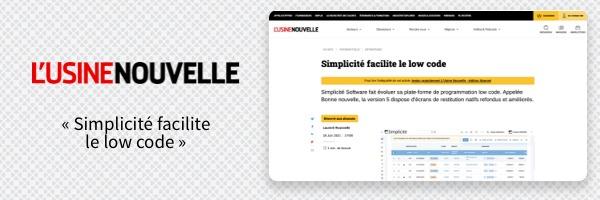Simplicité facilite le low-code